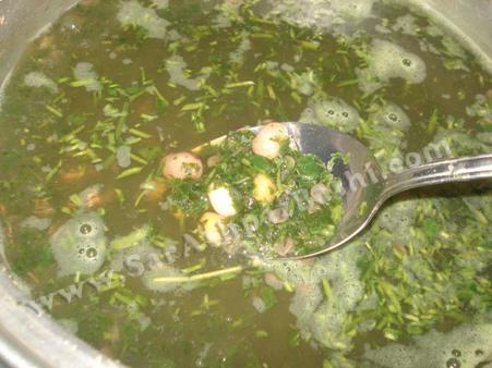 اضافه کردن سبزی