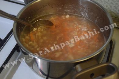 اضافه کردن هویج و جو