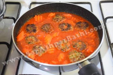 اضافه کردن هویج و شامی