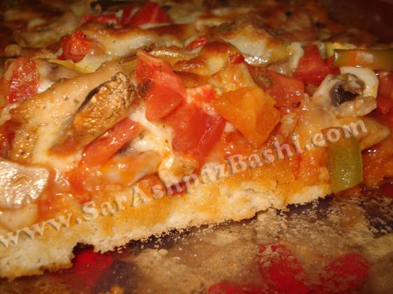 برش پیتزا تابه ای