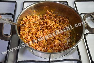 برنج و لپه اضافه شده
