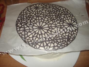 برگرداندن طرح روی کیک