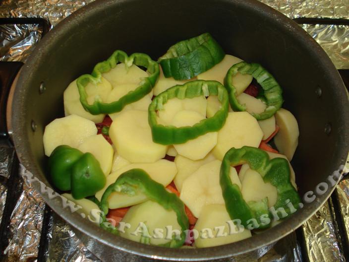 تاس کباب قبل از پخت