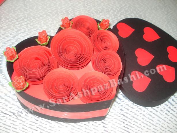 جعبه پر از گل