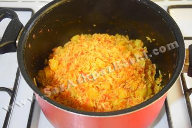 جمع شدن آب برنج