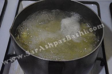 جوشاندن سیب زمینی