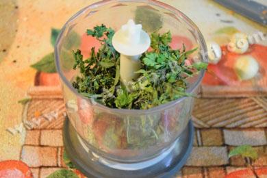 خرد کردن سبزی ترشی