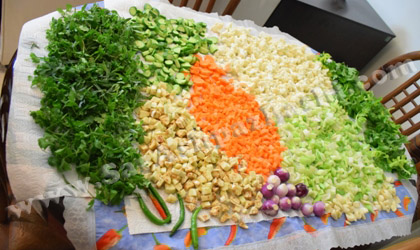 خشک کردن سبزیجات