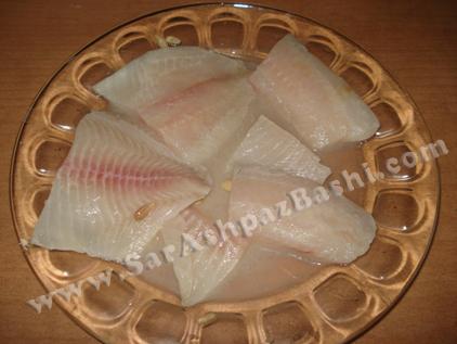 خواباندن ماهی در مواد