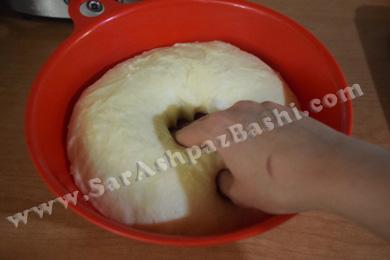 خواباندن پف خمیر