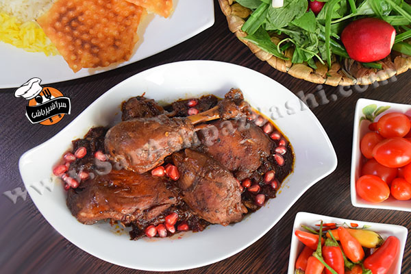 خورش مرغ و انار (۴)