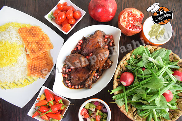 خورش مرغ و انار (۵)