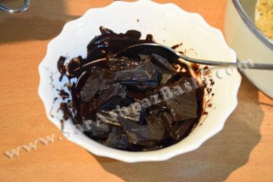 ذوب کردن شکلات