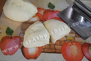 ربع کردن خمیر