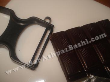 رنده کردن شکلات