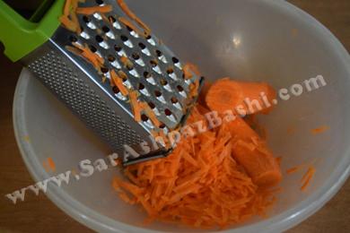 رنده کردن هویج