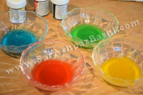 رنگ کردن پایپینگ ژل