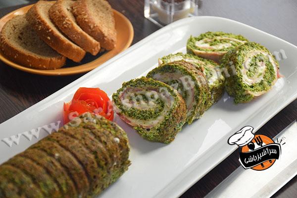 رول کوکو سبزی (۲)