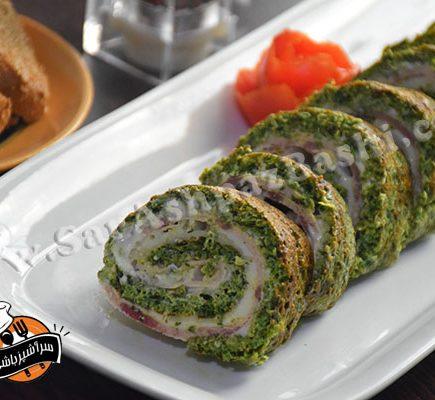 رول کوکو سبزی (۳)