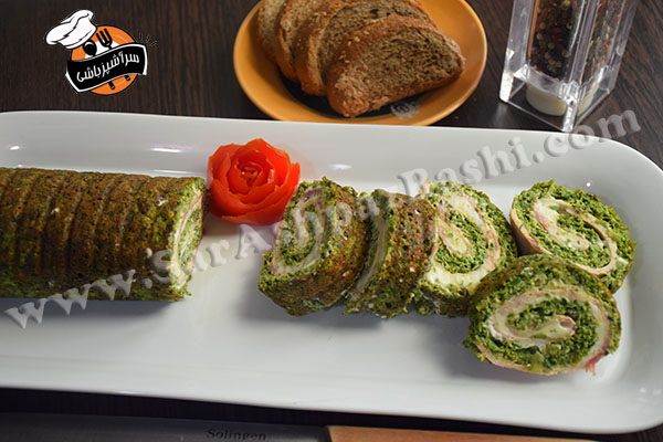 رول کوکو سبزی (۴)