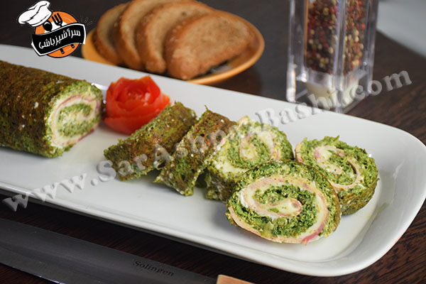 رول کوکو سبزی