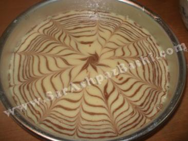 زبرا کیک قبل از پخت