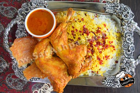 زرشک پلو با مرغ (۳)