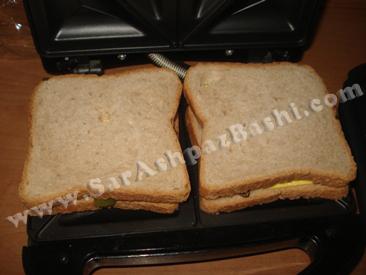 ساندویچ ها در ساندویچ میکر