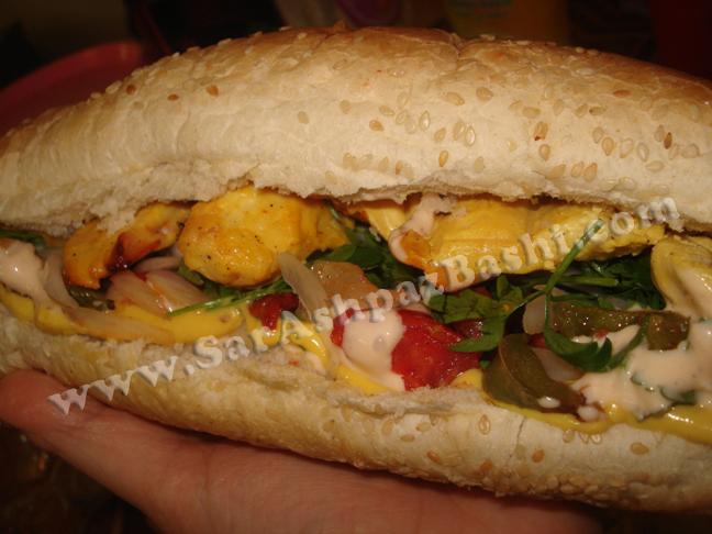 ساندویچ کباب ترکی مرغ
