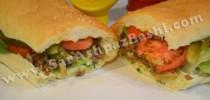 ساندویچ گوشت و قارچ