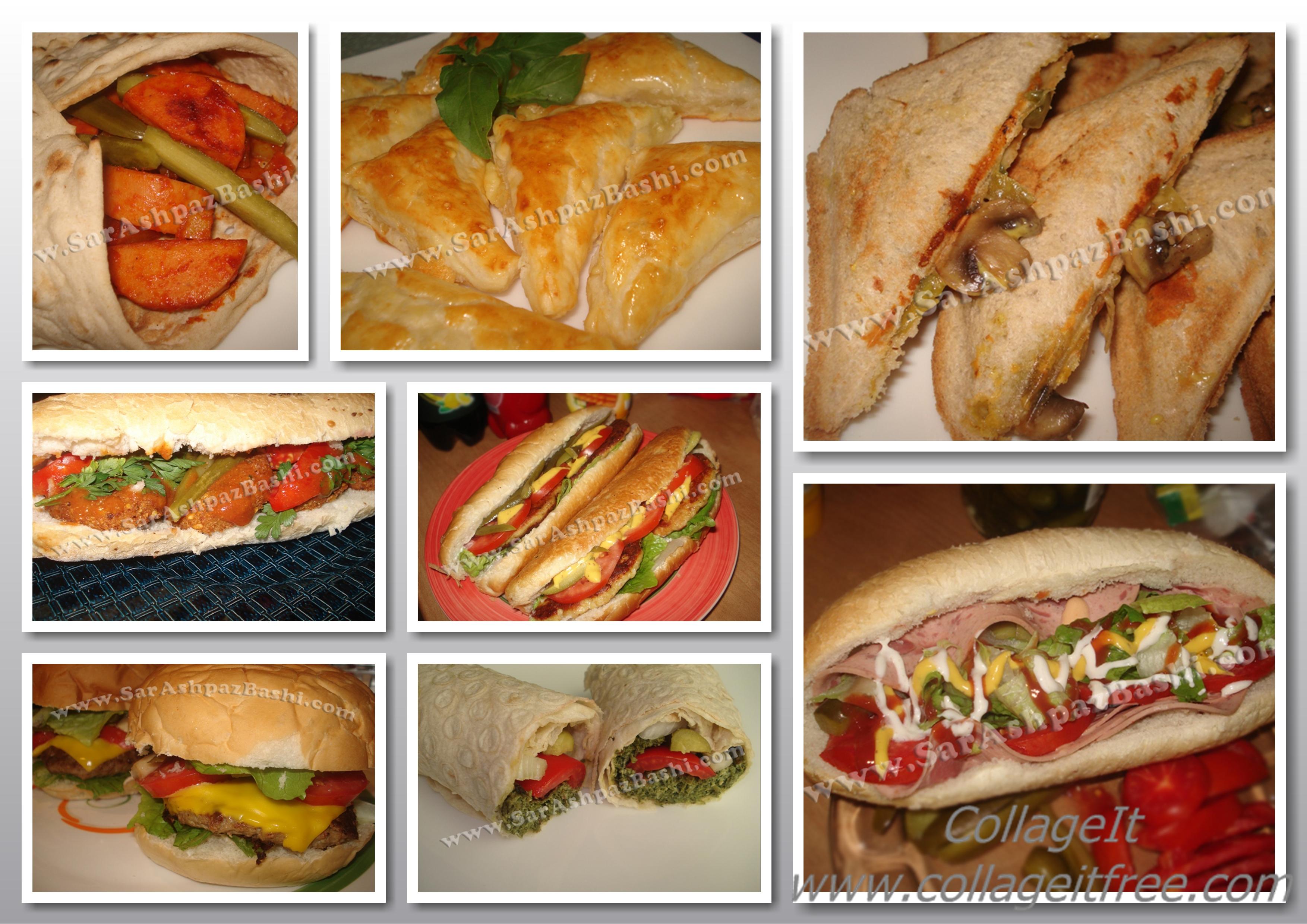 ساندویچ مخصوص مدرسه