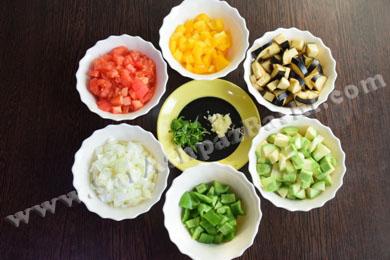 سبزیجات خرد شده