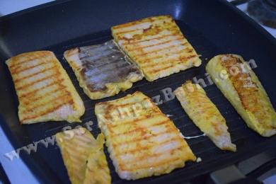 سرخ کردن سالمون (۲)