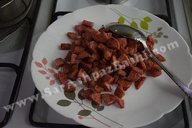 سوسیس های سرخ شده