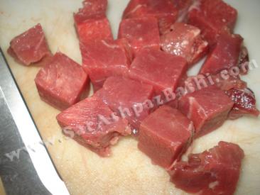 قطعات گوشت