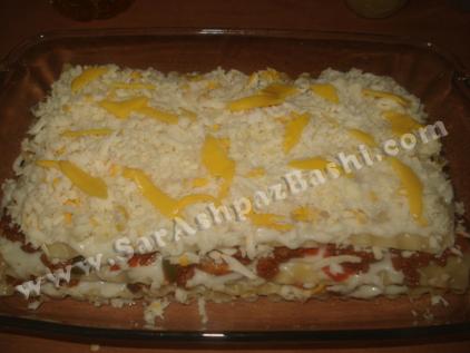 لازانیا قبل از پخت