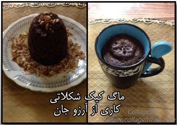ماگ کیک شکلاتی آرزو