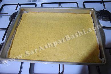 مایه کیک بعد از پخت