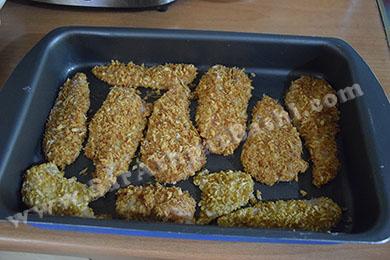 مرغها چیده در سینی