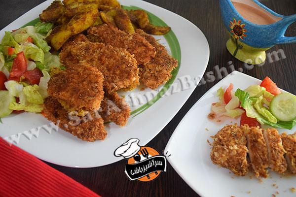 مرغ سوخاری و سیب زمینی ادویه ای (۳)