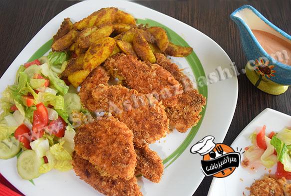 مرغ سوخاری و سیب زمینی ادویه ای (۴)