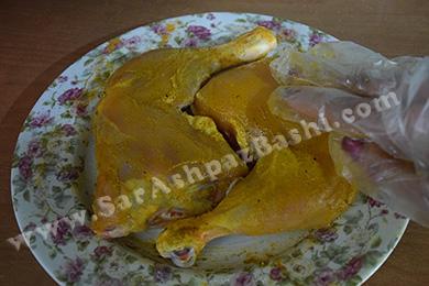 مزه دار کردن مرغ