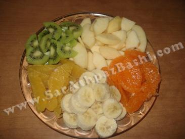 میوه های خرد شده