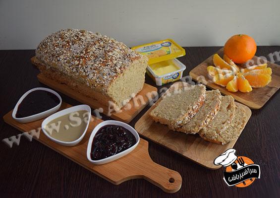نان تست سبوسدار (۲)