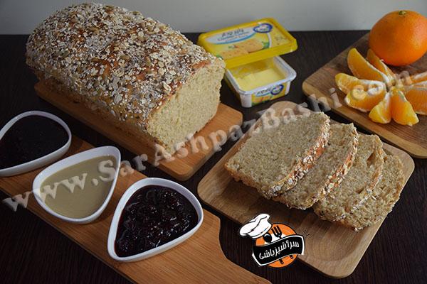نان تست سبوسدار (۳)