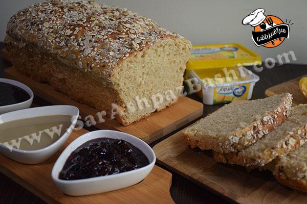 نان تست سبوسدار (۴)
