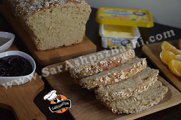 نان تست سبوسدار (۵)