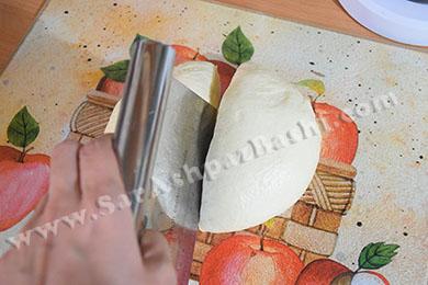 نصف کردن خمیر