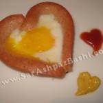شیرینی مربایی با طرح قلب