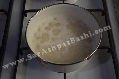 نیم پز کردن برنج